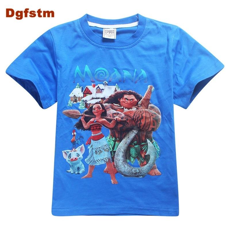 DGFSTM Brand Kids Baby Boys Girls T-Shirt New Summer Short Sleeve Tees Childrens Tops Clothing Cotton Cartoon Pattern Tshirt