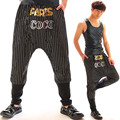 Fashion Men's Hiphop Harem Pants Wear Stage Show Costume Male Dj Jazz Gd Hanging Crotch Pants Hip-Hop Paillette Trousers