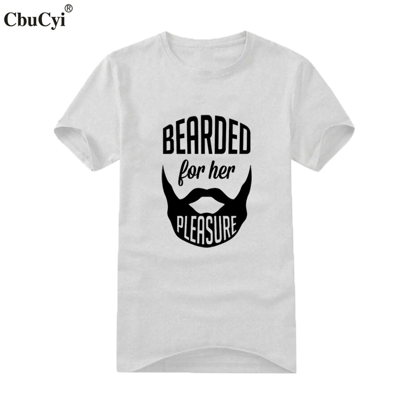 528a2a150 Bearded For Her Pleasure Funny Beard T Shirt Fashion Printed Short Sleeve t  shirt Men's Black White Tee Shirt Homme-in T-Shirts from Men's Clothing on  ...