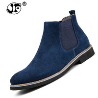 Vintage Genuine Leather Fashion Men Casual Boots Pointed Toe High Quality Male Chelsea Boots Winter Retro Shoes986