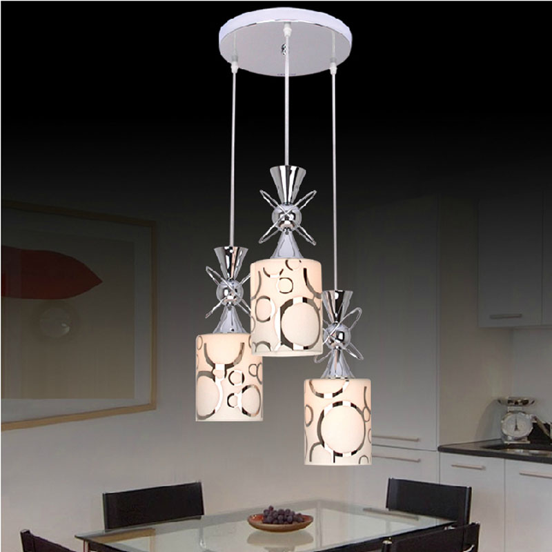 1/3 heads pendant lamps three modern minimalist fashion glass pendant light dining room LED lamp lighting FG441 LU1021 3 heads pendant lamps dining room glass pendant light living room lights bedroom pendant lamps iron lamp fg552