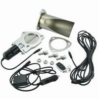2 5 Inch Electric Stainless Exhaust Cutout With Remote Control With Be Cut Pipe Exhaust Cut