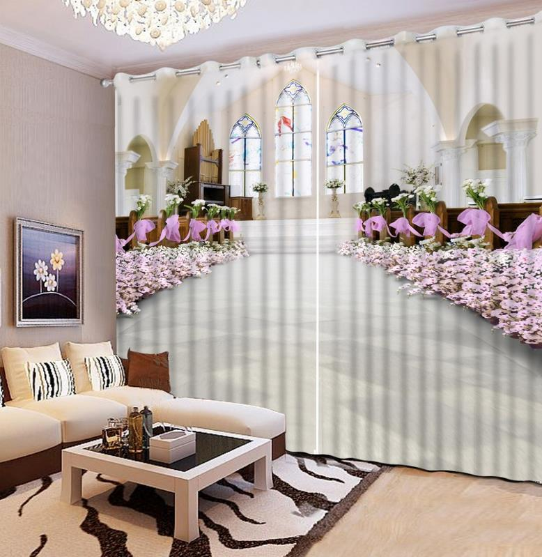 Hd Elegant 3d Window Curtain High Precision Roman Curtain