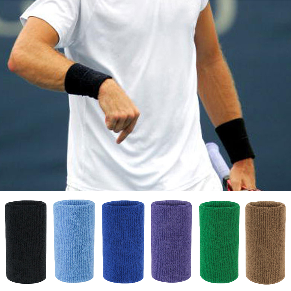 Sports Wristband Protective Gear Solid Color Sports Sweatband Fitness Training LFSPR0081