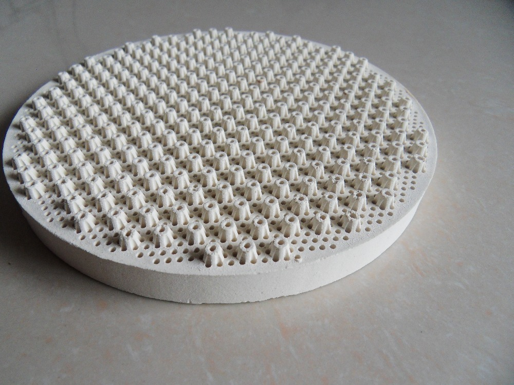 135mm dia. round gas heat reflected ceramic plates infared honeycomb porous flameless ceramics for stove cordierite white plates-in Baking \u0026 Pastry Tools ... & 135mm dia. round gas heat reflected ceramic plates infared honeycomb ...