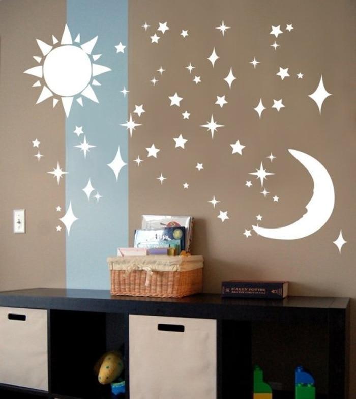 Designer Sun Moon Stars Stickers 3d Stereo Diy Environmentally
