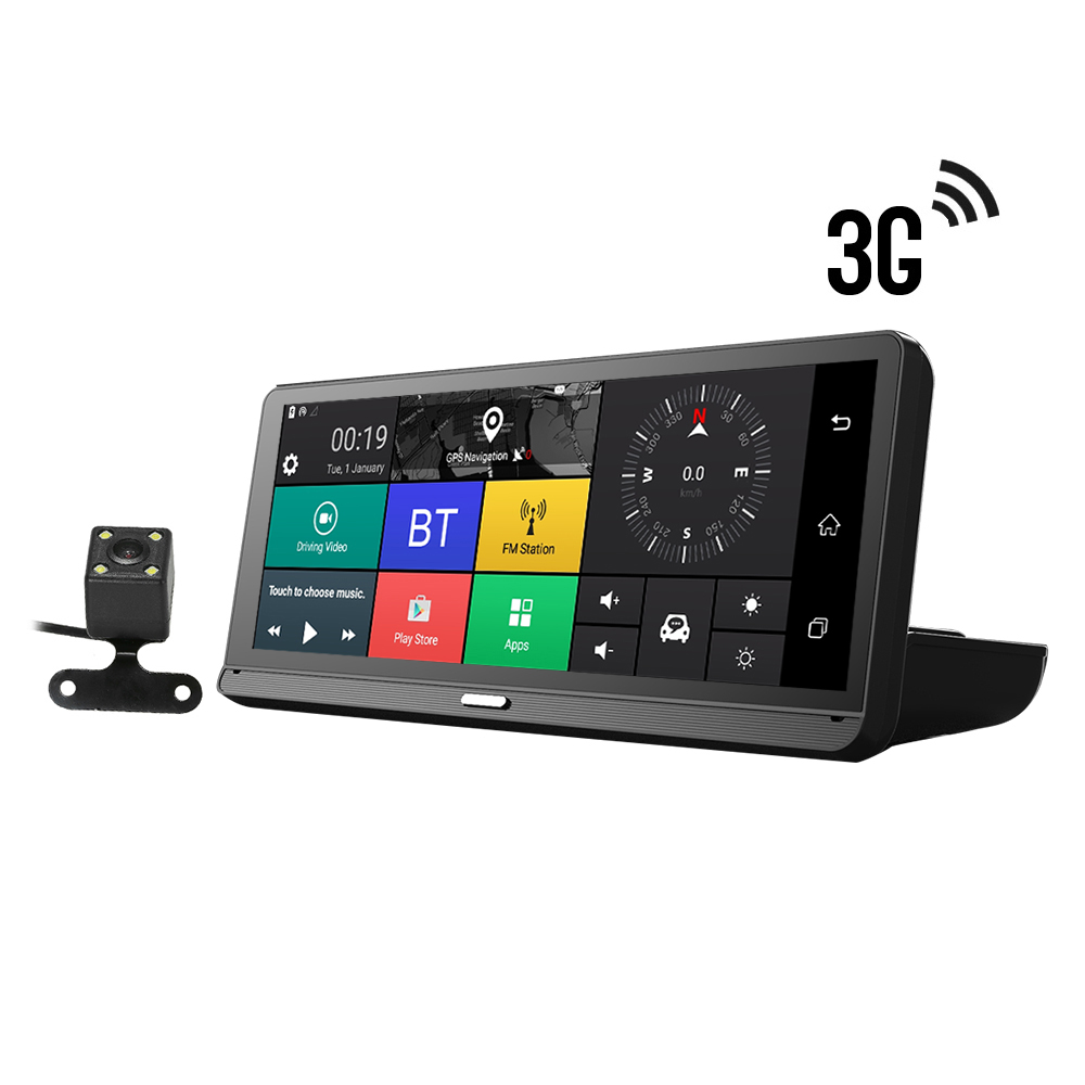 Car DVR Camera GPS Navigation 3G Android 5.1 WIFI FHD 1080P Dual Lens Parking Assistance BT ADAS Car GPS Navigation(China)