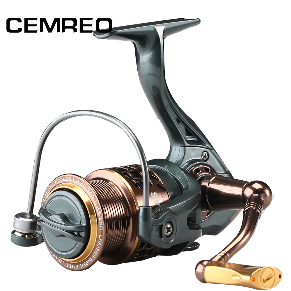 CEMREO 11 + 1BB Leurre De Pêche moulinet à tambour Métallique Bobine bobine 2000 3000 4000