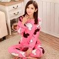 2016 nueva moda de otoño sólida linda pijamas chándal