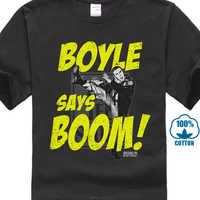Brooklyn Nine Nine Boom Mens Crew Tee T Shirt Tee Shirt Unisex More Size And Colors T Shirt Summer Famous Clothing Plus Size