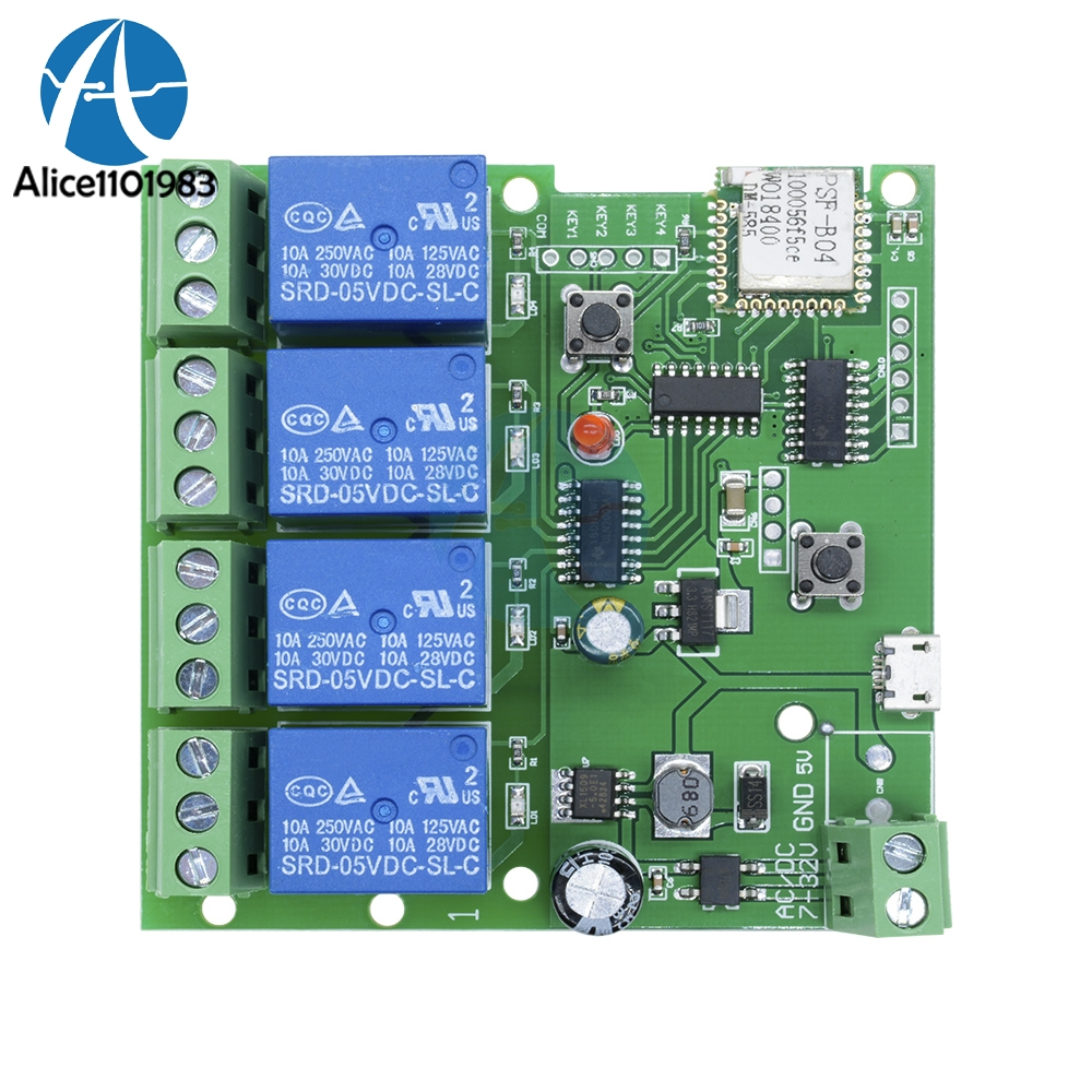 Detail Feedback Questions About Dc 5v 4 Channel 4ch 10a Relay Wifi Wireless Switch Circuit 1 X 7 32v Way Control Module With App