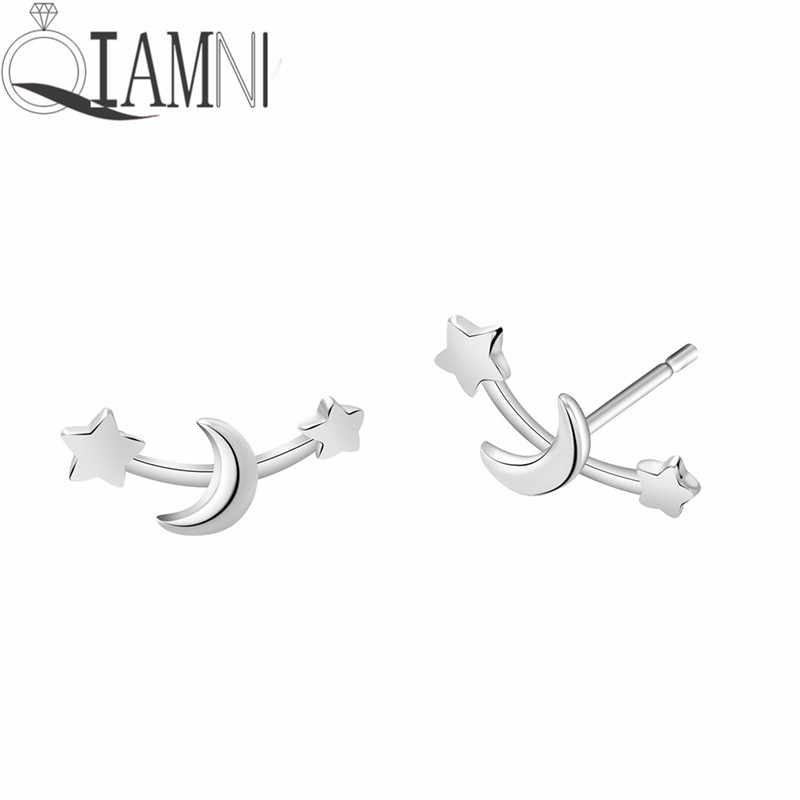 Detail Feedback Questions about QIAMNI Climber Tiny Star Moon Stud Earrings  Mother's Day Celestial Birthday Gift Jewelry Femme Pendientes Brincos ...