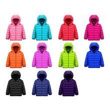 Crianças ultra leves para baixo jaqueta 11 cor 90% pato branco para baixo inverno quente criança casaco meninos e meninas com capuz para baixo jaqueta 12 m-14 t