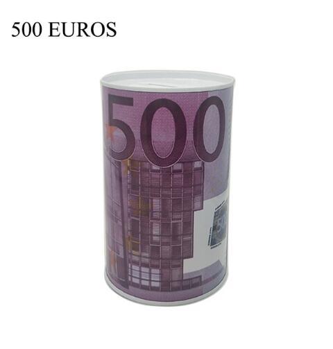 Alta-qualidade criativo euro dólar metal cilindro mealheiro economia caixa de dinheiro decoração para casa lata mealheiro crianças pequenos presentes