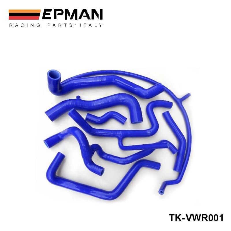 Silicone Intercooler Induction Intake Turbo Coolant Radiator hose kit For VW Golf MK3 VR6 G60 (8pcs) EP-VWR001