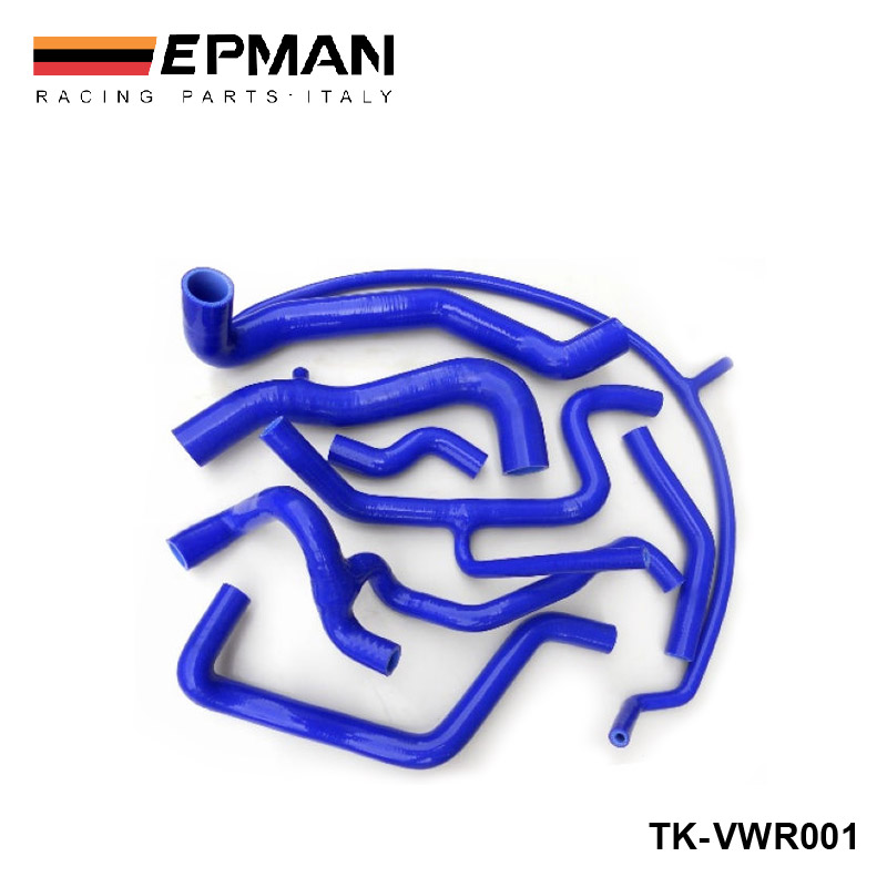 Silicone Intercooler Induction Intake Turbo Coolant Radiator hose kit For <font><b>VW</b></font> <font><b>Golf</b></font> <font><b>MK3</b></font> <font><b>VR6</b></font> G60 (8pcs) EP-VWR001 image