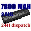 7800 mah 9 células bateria de laptop novo para dell para inspiron 1420 pp26l, vostro 1400 ft080 ft092 ft095 kx117 mn151 mn154 nb331
