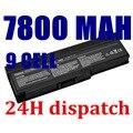 7800 mah 9 celdas nueva batería del ordenador portátil para dell para inspiron 1420 pp26l, vostro 1400 ft080 ft092 ft095 kx117 mn151 mn154 nb331