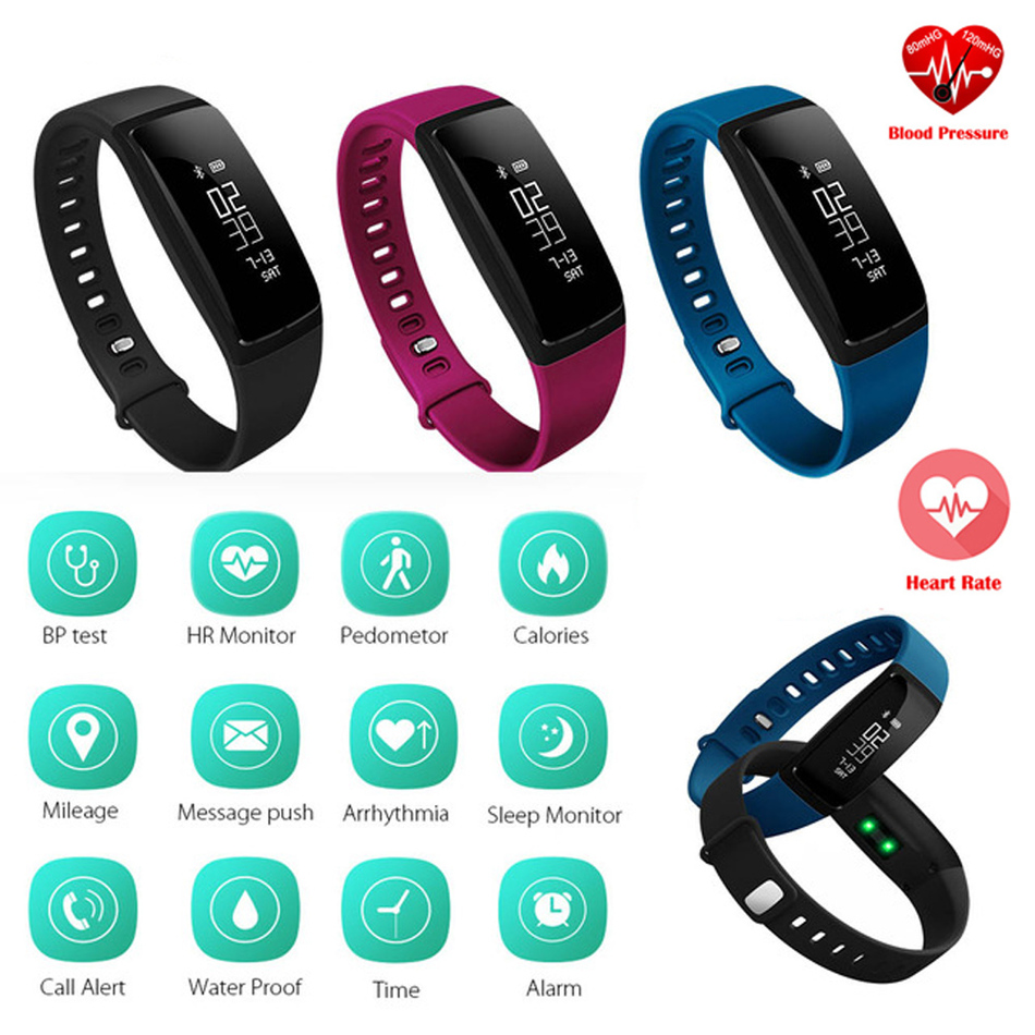 Blood Pressure Smart Wristband V07 Pedometer Smart Bracelet Heart Rate Monitor Smartband Bluetooth Fitness For Android