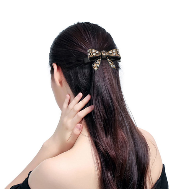 ab rhinestone cellulose acetate butterfly wedding hair accessories jewelry ornament hair barrete pin hair clip for