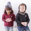 Inverno novo bebê menino e menina roupas Luz fina quente para baixo casacos de esportes dos miúdos das crianças outerwear 12 cores crianças roupas