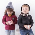 winter new baby boy and girl clothes children's  Light thin  warm down jackets kids sports outerwear 12 color children clothing