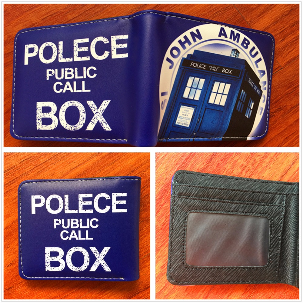 New Arrive Cartoon Anime Purses Doctor Who Wallet Men Wallets with Card Holder Bag W509