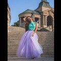 7 Capas 100 cm Faldas Largas Con Zippe 2016 Primavera Verano Falda de Tul vestido de Bola Plisado Mujeres Falda Tutú BSQ004