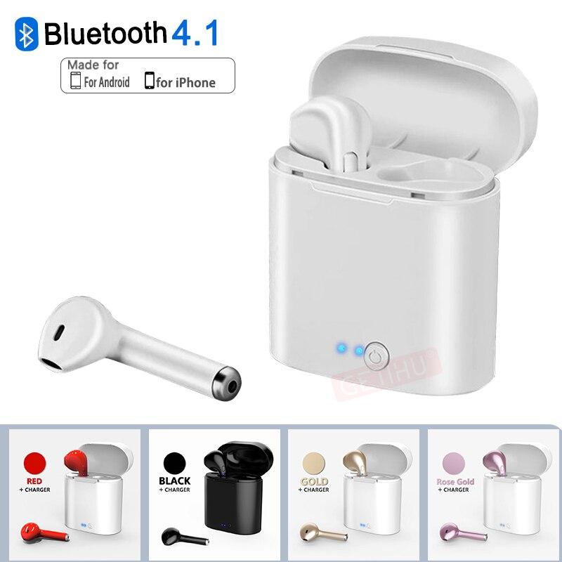 GETIHU Мини Bluetooth наушники для iPhone XS Max samsung Air беспроводной наушники гарнитура в ухо телефон стручки бутон купить на AliExpress