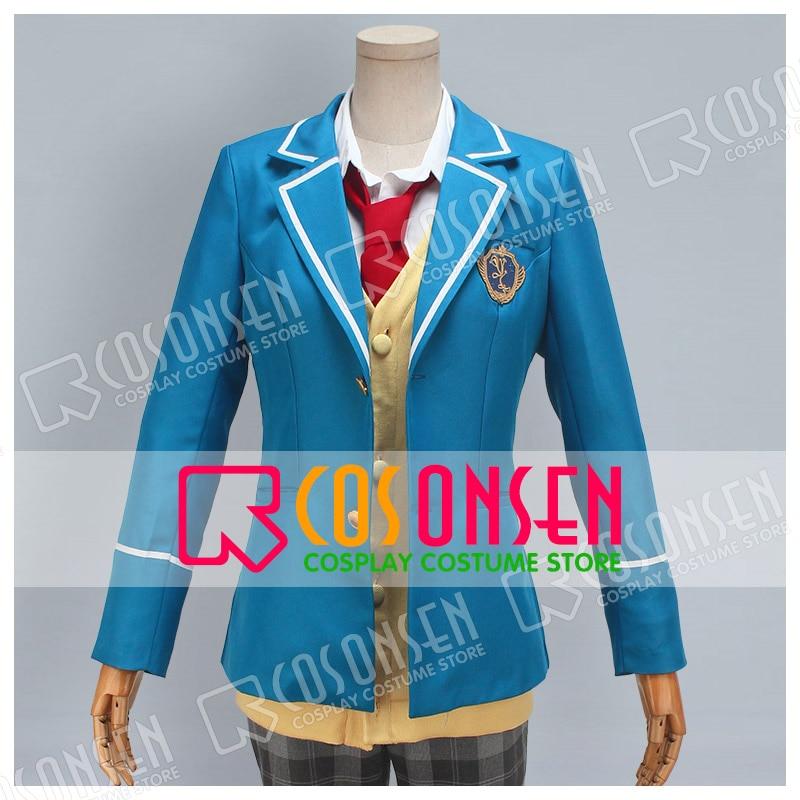 COSPLAYONSEN Ensemble Stars Yumenosaki Private Academy Tori Himemiya Cosplay Costume Uniform All Sizes
