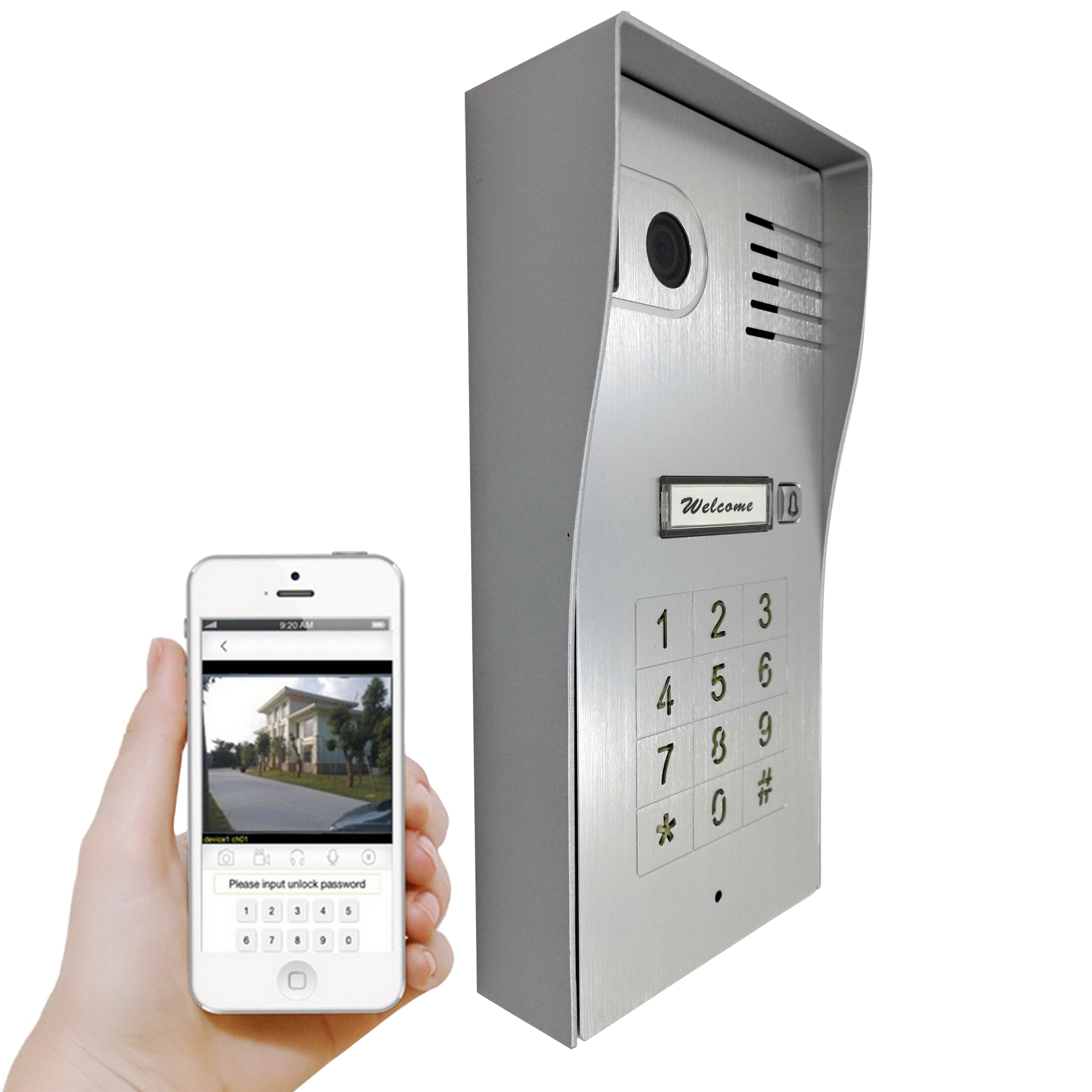 Touch Screen Global Wireless Video Door Phone WIFI Doorbell Intercom Digital Camera Smart Phone Control Night Vision Wifi