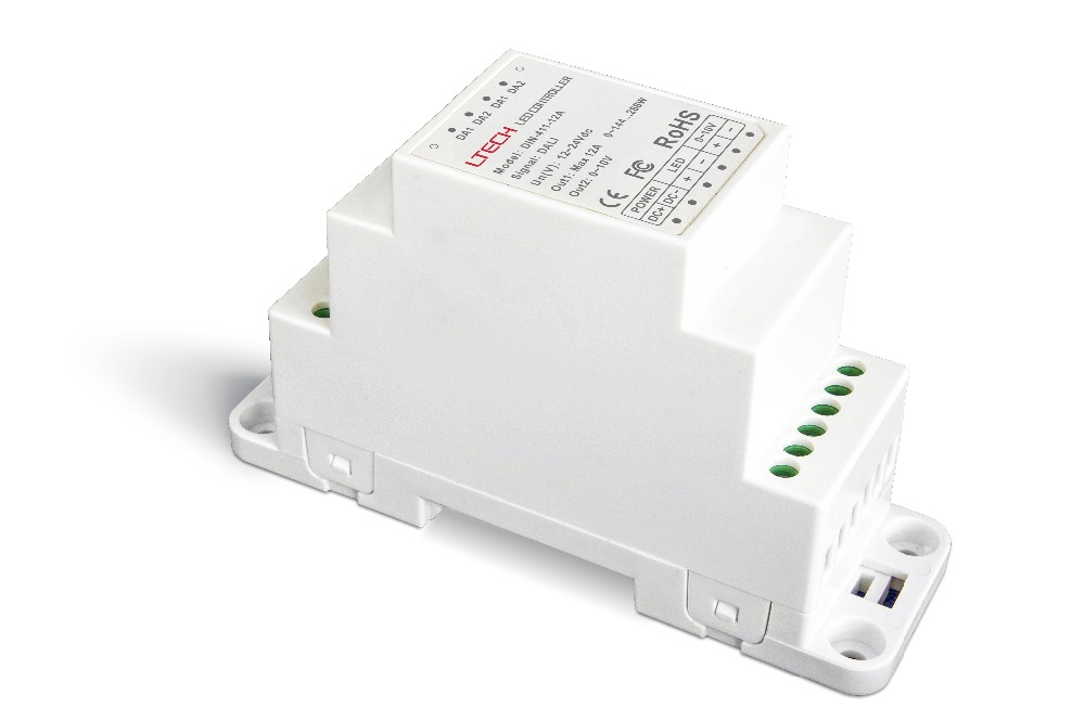 DIN-411-12A;DALI to PWM CV Dimming Driver(DIN rail/Screw dual-use);DC12-24V input;12A*1CH +0-10V *1CH output 5pcs bt138 800e bt138 800 bt138 12a 800v to 220