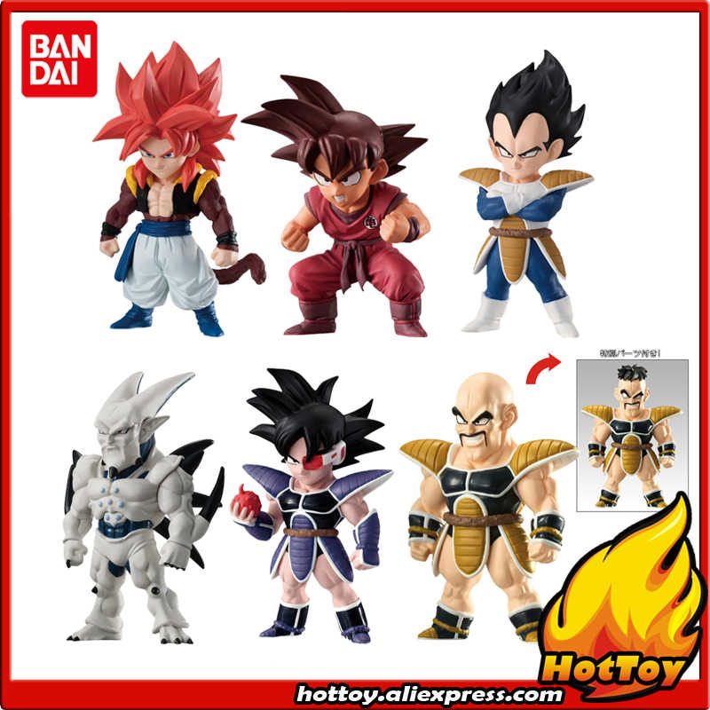 "100% Original BANDAI ADVERGE 08 Toy Figura-Conjunto Completo de 6 Pcs Nappa Turles Vegeta Goku Gogeta Syn Shenron a partir de ""Dragon Ball"""
