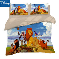 Lion king bedding set for children home decor queen size comforter covers twin bed spread 3/4pcs cartoon free shipping promotion