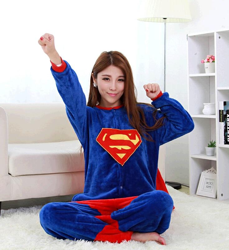 Felnőtt Onesie Superman szuperhős pizsama Unisex pizsama Kapitány Amerika Cosplay jelmez Kigurums Batman Pókember Iron Man