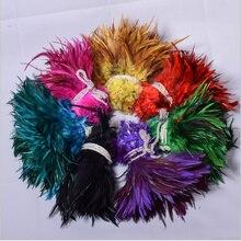 100 шт куриное перо смешанных цветов перья красивые перья для рукоделия шитья костюма Millinery DIY розница около 8-15 см Шлейфы
