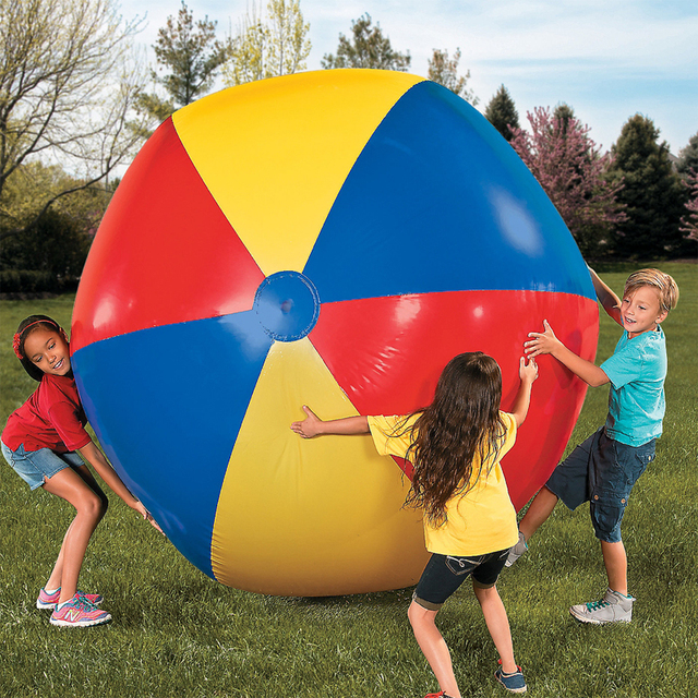 80cm/100cm/130cm/150cm Giant Beach Ball Volleyballs Inflatable Pool Float For Adults Children Baby Water Holiday Party Toys boia