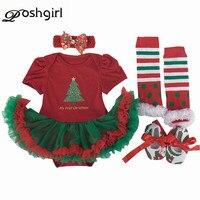 Baby Girl's Christmas Newborn Clothing Set Infant Minnie Gift Tutu Romper Dress 4pcs Children Kids Clothes Set 2018 Xmas Costume