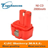 9,6 V 2000 mAh NI-CD batería recargable batería herramienta eléctrica Taladro Inalámbrico para Makita 9120 9122 PA09 6207D Ni -CD batería