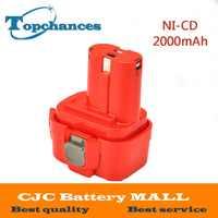 9.6V 2000mAh NI-CD ładowalny akumulator elektronarzędzia wiertarka akumulatorowa do Makita 9120 9122 PA09 6207D ni-cd Bateria