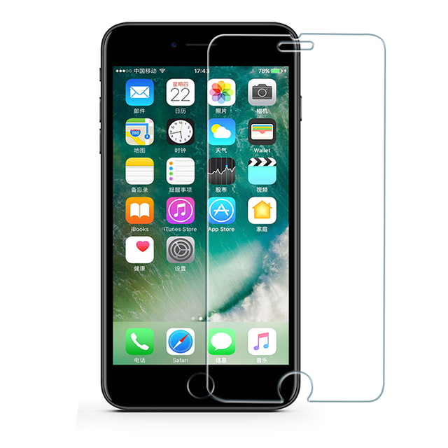 Protective tempered glass for iphone 6 7 5 s se 6 6s 8 plus XS max XR glass iphone 7 8 x screen protector glass on iphone 7 6S 8 1