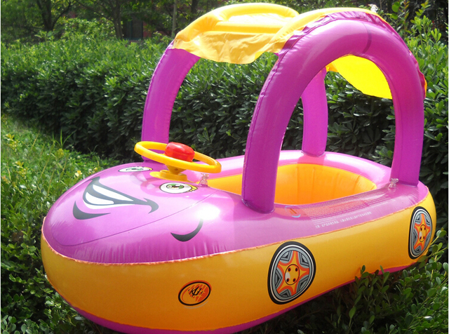 Inflatable PVC Baby Sitting Float Children Summer Swimming Ring ...