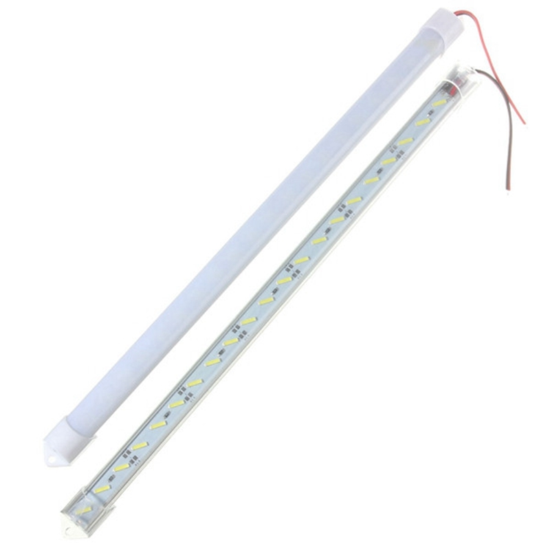 50CM 12V 36LED 8520SMD Strip Bright Light Aluminum With Cover Case Bar Home Lamp