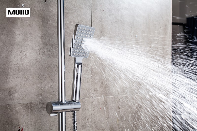 MOIIO 2019 NEW High Pressure Square Shower Head Chrome Water Saving ABS With Chrome Plated Bathroom accessory Rainfall Shower in Shower Heads from Home Improvement