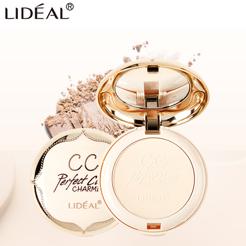 LIDEAL Double Layer Soft Translucent Compact Pressed Powder Face Contour Palette Finishing Powder Setting Makeup Bare MineralizeLIDEAL Double Layer Soft Translucent Compact Pressed Powder Face Contour Palette Finishing Powder Setting Makeup Bare Mineralize