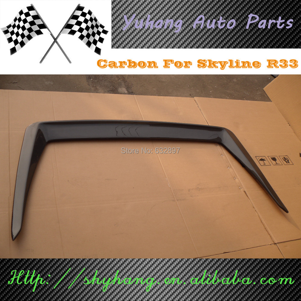 SKYLINE R33 GTS GTR DRIFT CARBON FIBER REAR SPOILER WING