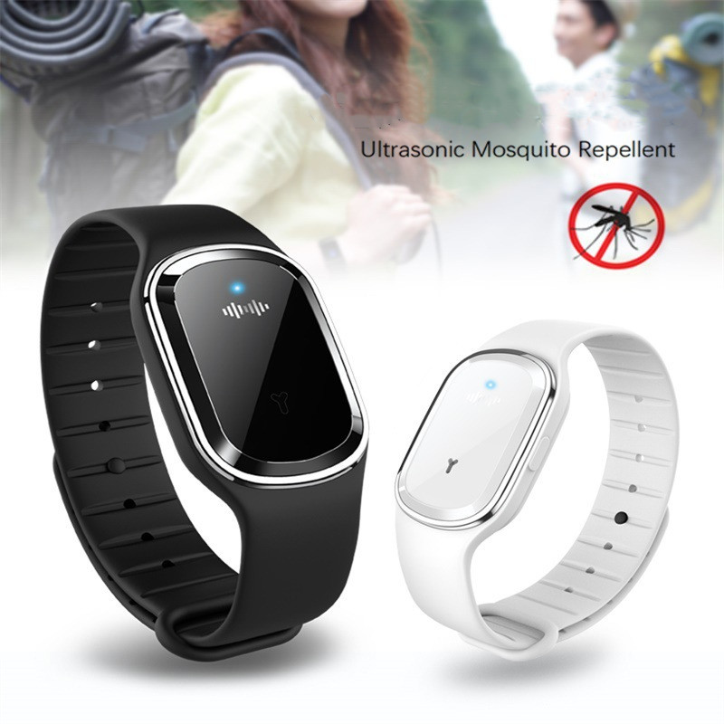 Repellent Bracelet Capsule Bugs Ultrasonic Anti-Mosquito Wristband Insect Pest Adult