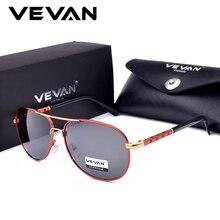 VEVAN 2018 Высокое качество классические Пилот поляризованных солнцезащитных очков Для мужчин UV400 Элитный бренд вождения солнцезащитные очки Óculos de sol с коробкой
