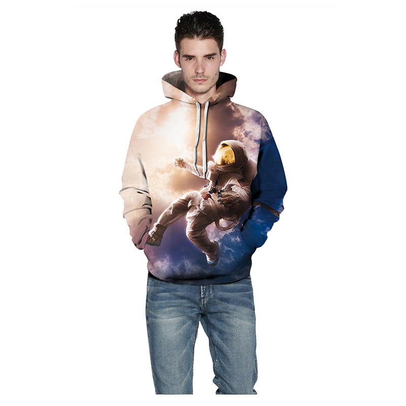 Men/Women New Casual 3D Hooded Sweatshirt Space Astronauts Print Hoodies Sweatshirts Casual Harajuku Hip Hop Hoody