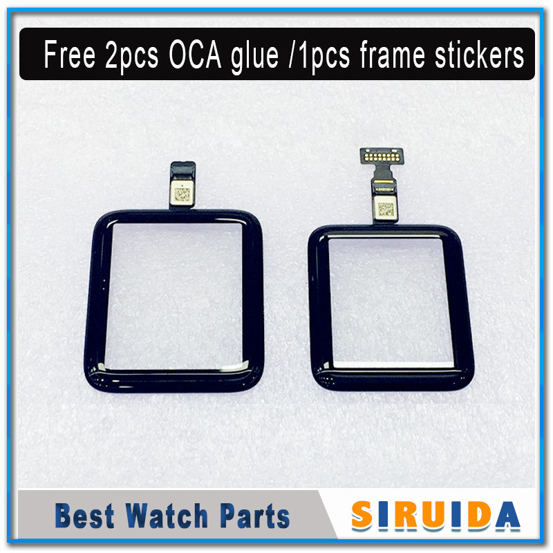 Digitizer Glass Outer-Panel Touch-Screen Apple 38mm Sensor Front for 2/3/S2/.. with Flex-Cable